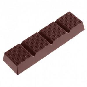 Moule Chocolat Barre à Damier (x6) Chocolate World