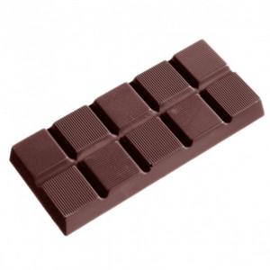 Moule Chocolat Tablette 10 Carrés Striés (x5) Chocolate World