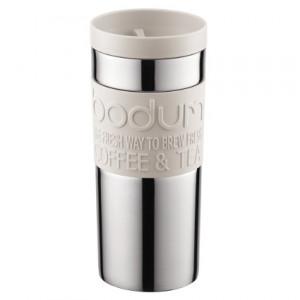 Travel Mug Inox Crème Couvercle à Vis 35cl Bodum
