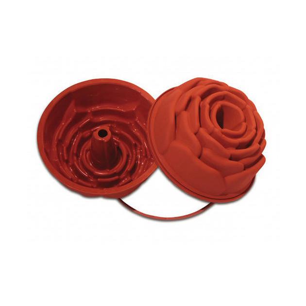 Moule silicone souple professionnel forme Rose Ø22 cm Silikomart