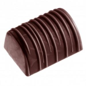Moule à chocolat 24 Bonbons Rectangle décors striés Chocolate World