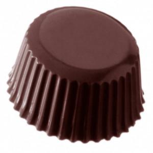 Moule Chocolat Médaillon Strié (x24) Chocolate World