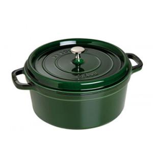FIN DE SERIE STAUB Cocotte Fonte Ronde 22 cm Vert Basilic Majolique 2,6 L