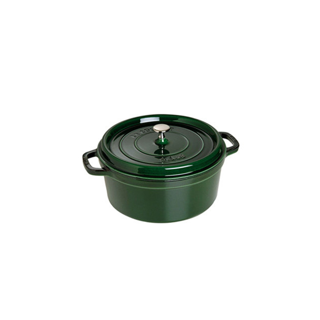 FIN DE SERIE STAUB Cocotte Fonte Ronde 22 cm Vert Basilic Majolique 2.6 L