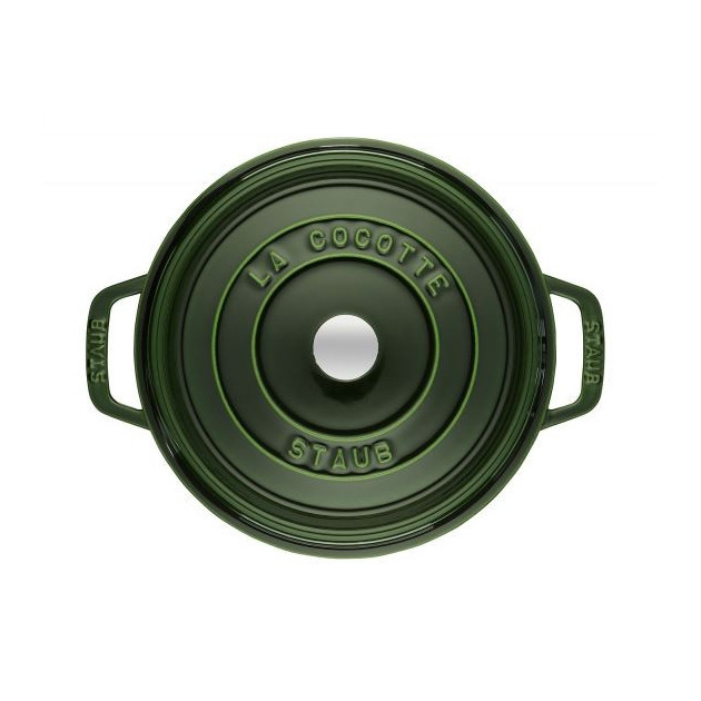 Cocotte en fonte Verte 22 cm