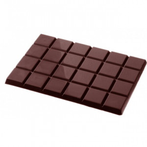 Moule Chocolat Tablette 24 Carrés (x2) Chocolate World