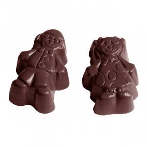 Moule Chocolat Garçon et Fille (x21) Chocolate World