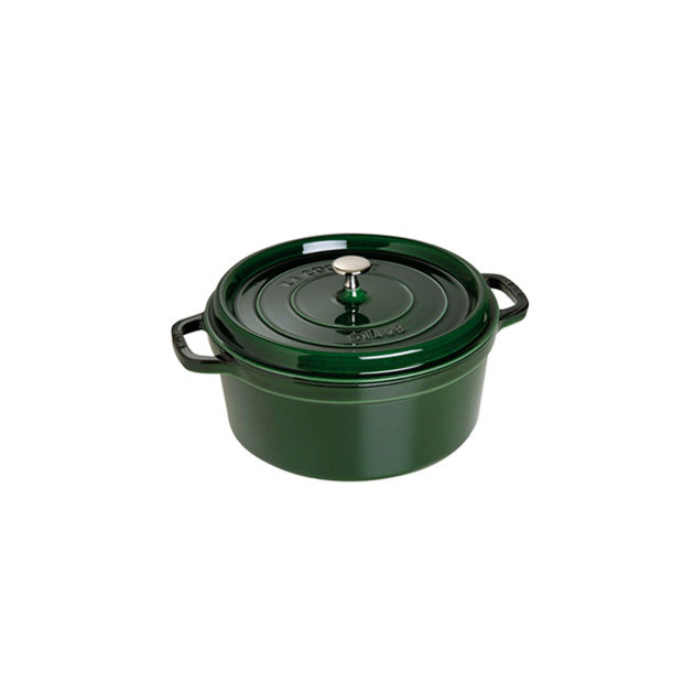 STAUB Cocotte Fonte Ronde 26 cm Vert Basilic Majolique 5.2 L