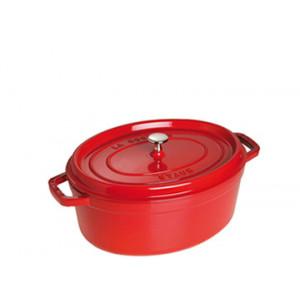 STAUB Cocotte Fonte Ovale 23 cm Rouge Cerise 2,35 L