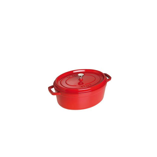 STAUB Cocotte Fonte Ovale 23 cm Rouge Cerise 2.35 L