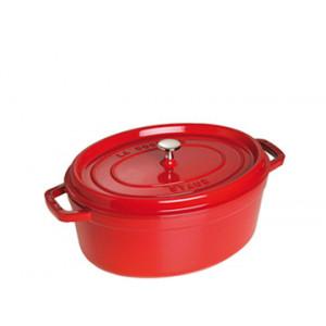 STAUB Cocotte Fonte Ovale 27 cm Rouge Cerise 3,2 L