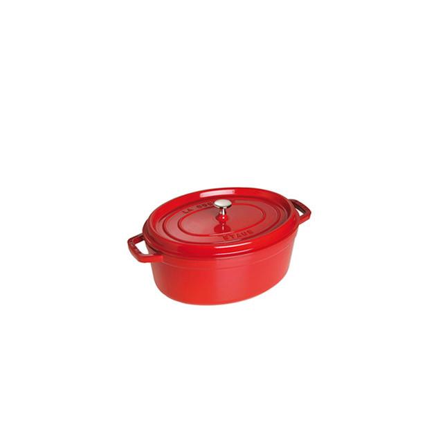 STAUB Cocotte Fonte Ovale 27 cm Rouge Cerise 3.2 L