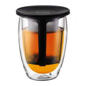 Tasse à Thé avec Infuseur Plastique Noir YO-YO SET Bodum