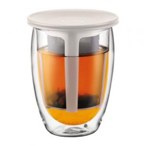 Tasse à Thé avec Infuseur Plastique Crème YO-YO SET Bodum