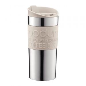Travel Mug Inox Crème couvercle clapet 35cl BODUM