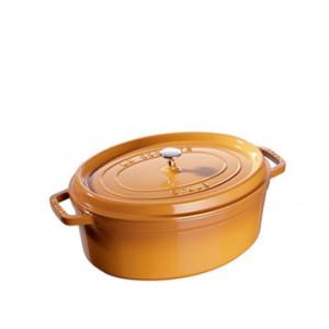 FIN DE SERIE STAUB Cocotte Fonte Ovale 23 cm Jaune Moutarde 2,35 L