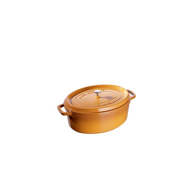 FIN DE SERIE STAUB Cocotte Fonte Ovale 23 cm Jaune Moutarde 2.35 L