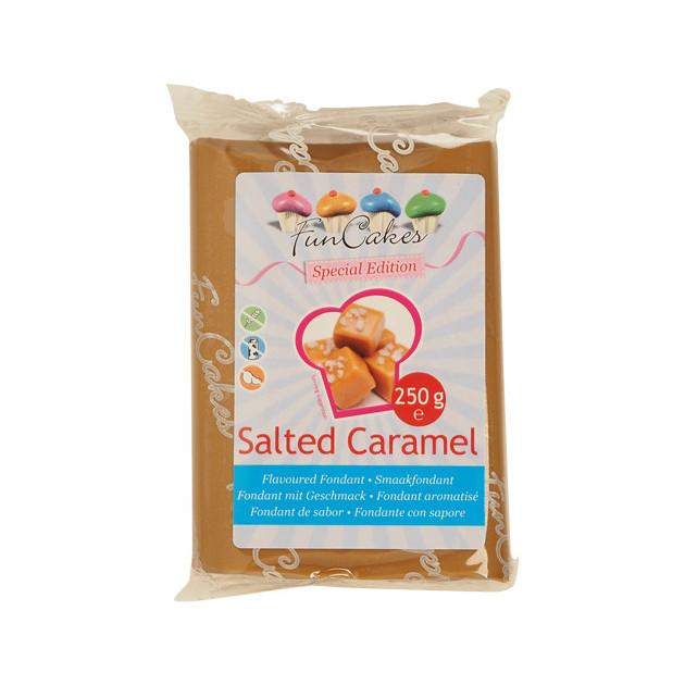 Pate a Sucre goût Caramel Sale 250g Funcakes