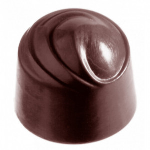 Moule Chocolat Rond Spirale (x40) Chocolate World