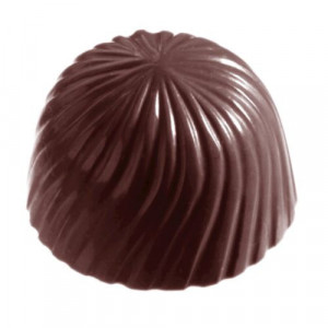 Moule Bonbon Chocolat Rond Strié (x32) empreintes Chocolate World