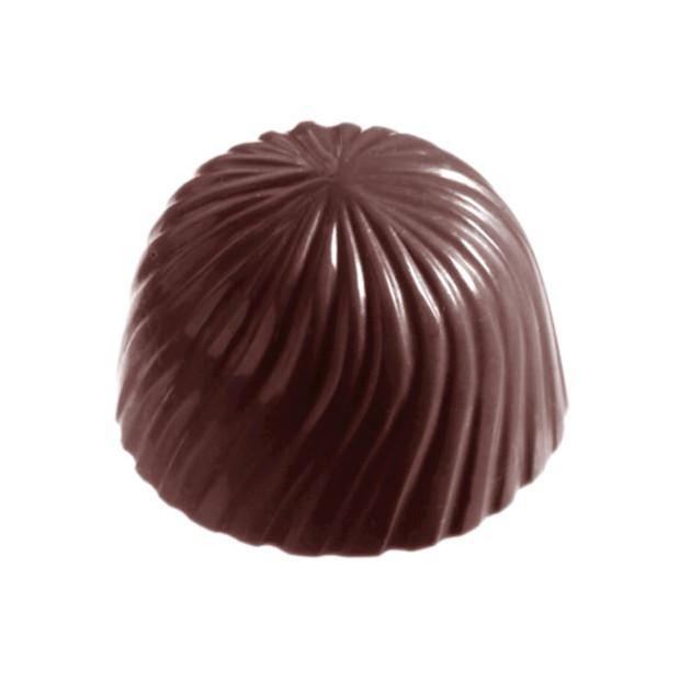 Moule Bonbon Chocolat Rond Strie (x32) empreintes Chocolate World