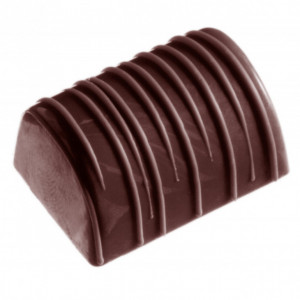 Moule Chocolat Rectangle Strié (x32) Chocolate World