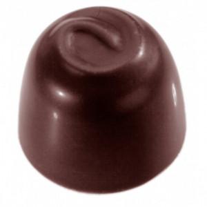 Moule à chocolat Rond motif tourbillon Polycarbonate Chocolate World