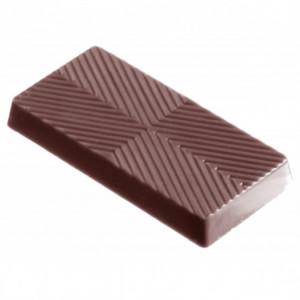 Moule Chocolat Rectangle Rayé (x24) Chocolate World