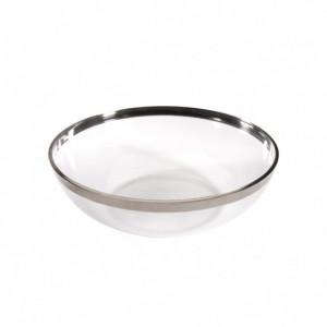 Coupelle Plastique bord argenté 400 ml (x8) Crokus