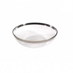 Saladier Plastique bord argenté 1,5L (x4) Crokus