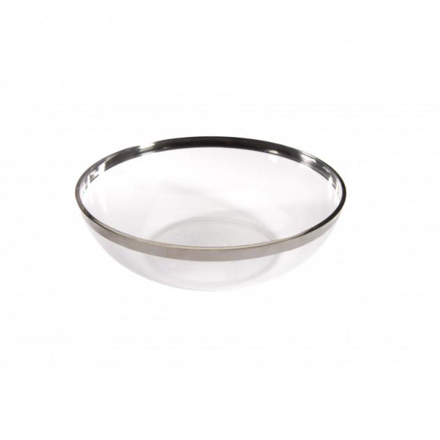 Saladier Plastique bord argente 1.5L (x4) Crokus