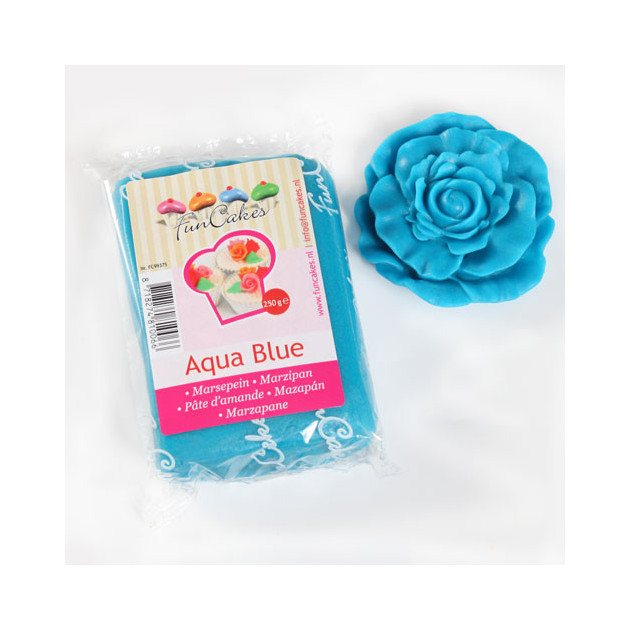 Pate d'amande Bleu mer 20% 250g Funcakes
