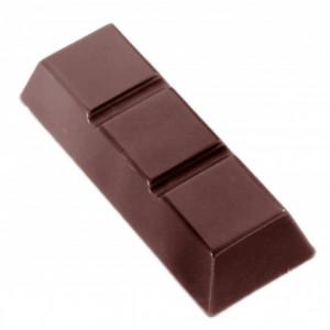 Moule Chocolat Barre 3 Carrés (x15) Chocolate World