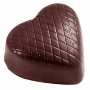 Moule Chocolat Coeur Strié (x32) Chocolate World