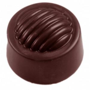 Moule Chocolat Rond Strié (x32) Chocolate World