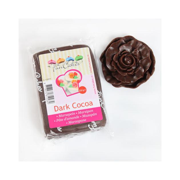 Pate d'amande Chocolat noir 20% 250g Funcakes