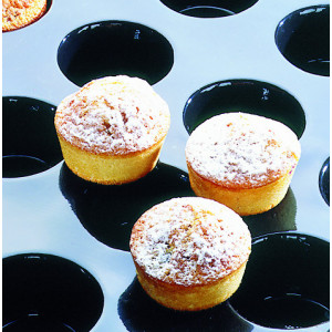 Moule Silicone 24 Muffins 8 cm x H 3,5 cm Flexipan