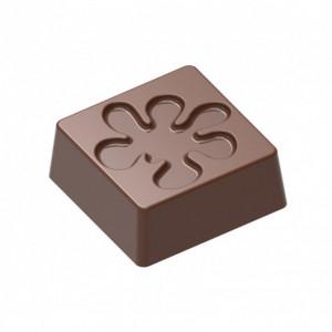 Moule Chocolat Bonbon Carré Fleur (x24) Chocolat Form