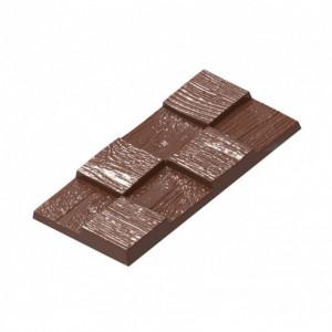Moule Chocolat Tablette Effet Bois (x4) Chocolat Form