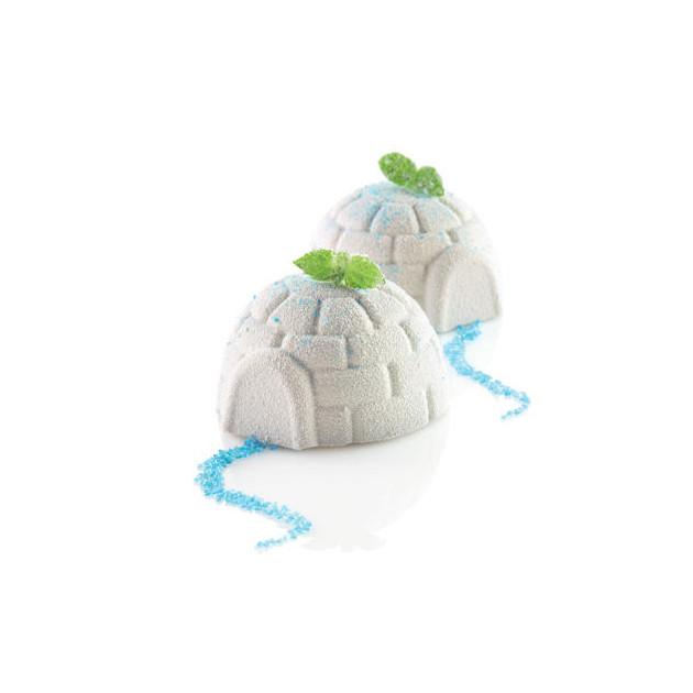 Gateau Igloo Dessert Igloo realises avec le moule Silicone Igloss