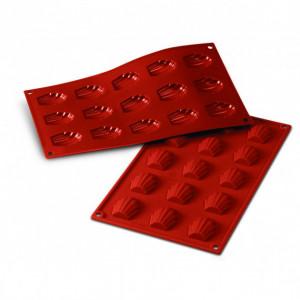 Moule Silicone 15 Madeleines 4,4 x 3,4 cm Silikomart