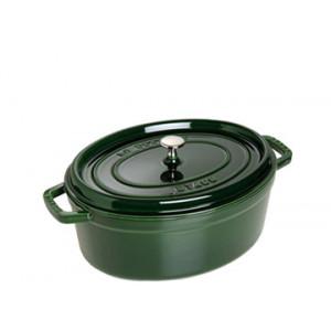 STAUB Cocotte Fonte Ovale 29 cm Vert Basilic Majolique 4,2 L