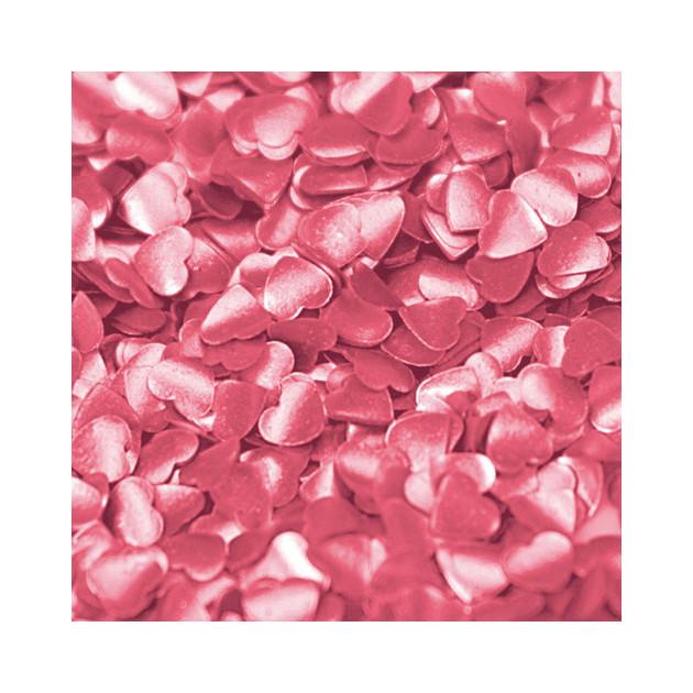 Mini-coeurs roses comestible Rainbow Dust