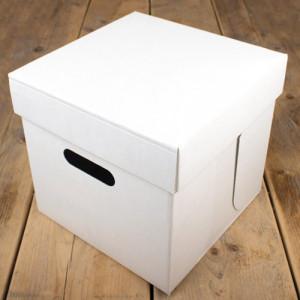 Boîte à Gâteau Carré 25.5x25.5cm H.25cm (x1) Funcakes