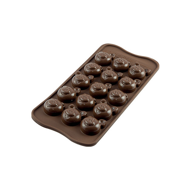 Moule a Chocolat 15 Cochons Easy Choc - Silicone Special Chocolat