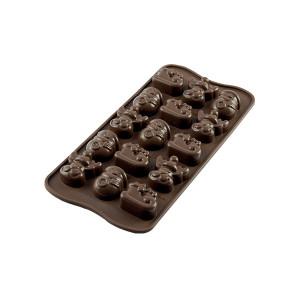 Moule à Chocolat 15 Sujets Noël Easy Choc - Silicone Spécial Chocolat