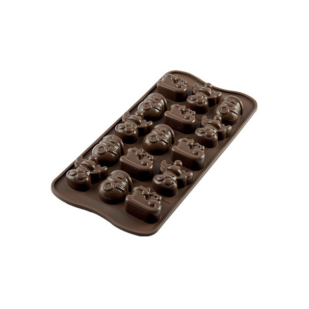 Moule a Chocolat 15 Sujets Noel Easy Choc - Silicone Special Chocolat