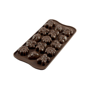 Moule à Chocolat 15 Sujets Spring Life Easy Choc - Silicone Spécial Chocolat