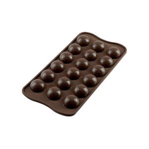 Moule à Chocolat 18 Ballons de Foot Easy Choc - Silicone Spécial Chocolat