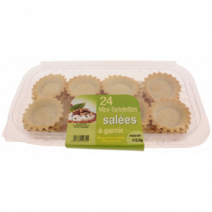 Mini-tartelettes salées à garnir (x24)